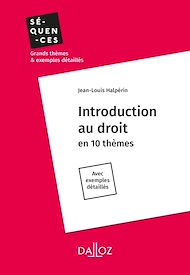 Téléchargez le livre :  Introduction au droit - Intégrale
