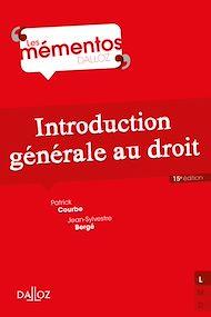 Téléchargez le livre :  Introduction générale au droit