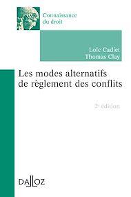 Téléchargez le livre :  Les modes alternatifs de règlement des conflits