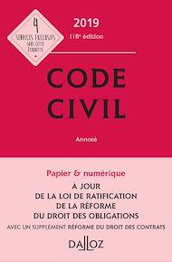 Téléchargez le livre :  Code civil 2019, annoté