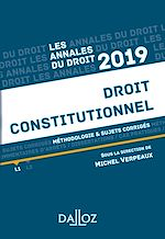 Download this eBook Annales Droit constitutionnel 2019. Méthodologie & sujets corrigés