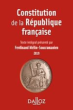 Download this eBook Constitution de la République française. 2019