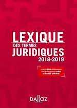 Téléchargez le livre :  Lexique des termes juridiques 2018-2019