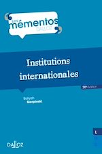 Download this eBook Institutions internationales
