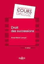 Téléchargez le livre :  Droit des successions - 4e ed.
