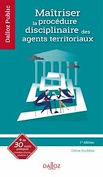 Download this eBook Maîtriser la procédure disciplinaire des agents territoriaux