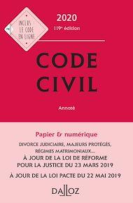 Téléchargez le livre :  Code civil 2020, annoté - 119e éd.