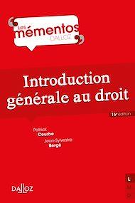 Téléchargez le livre :  Introduction générale au droit - 16e éd.