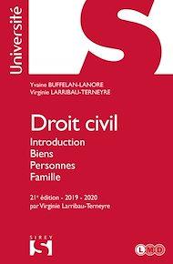 Téléchargez le livre :  Droit civil. Introduction Biens Personnes Famille - 21e éd.
