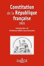 Téléchargez le livre :  Constitution de la République française - 18e ed.