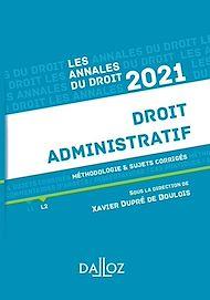 Téléchargez le livre :  Annales Droit administratif 2021