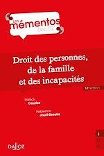 Téléchargez le livre :  Droit des personnes, de la famille et incapacités - 11e ed.