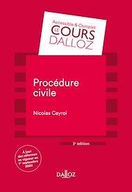 Téléchargez le livre :  Procédure civile - 3e ed.