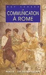 Download this eBook La Communication à Rome
