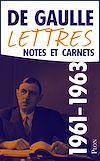 Télécharger le livre :  Lettres, notes et carnets, tome 9 : 1961-1963