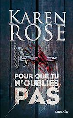 Download this eBook Pour que tu n'oublies pas
