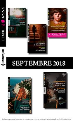 10 romans Black Rose + 1 gratuit (n° 495 à 499 - Septembre 2018)
