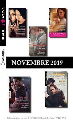 Pack mensuel Black Rose : 10 romans + 1 gratuit (Novembre 2019)