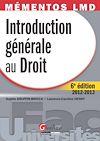 Télécharger le livre :  Introduction générale au droit 2012-2013 - 6e édition
