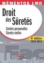 Download this eBook Droit des sûretés 2012-2013 - Sûretés personnelles - Sûretés réelles - 6e édition