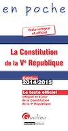 Télécharger le livre :  En poche - La Constitution de la Ve République 2014-2015