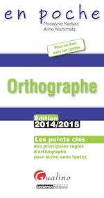 Download this eBook En poche - Orthographe 2014-2015