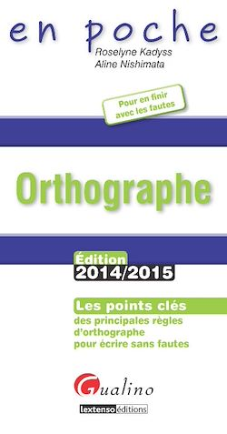 Download the eBook: En poche - Orthographe 2014-2015