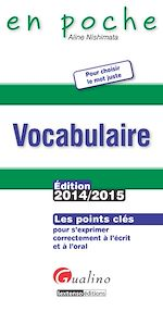 Download this eBook En poche - Vocabulaire 2014-2015
