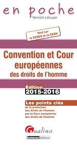 Télécharger cet ebook : En poche - Convention et Cour européennes des droits de l'homme 2015-2016