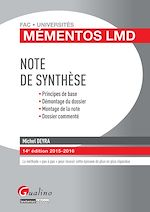 Download this eBook Mémentos LMD - Note de synthèse - 14e édition 2015-2016