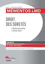 Download this eBook Mémentos LMD - Droit des sûretés - 9e édition 2015-2016