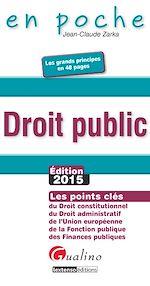 Télécharger cet ebook : En poche - Droit public2015