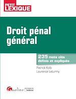 Download this eBook Droit pénal général - 2e édition