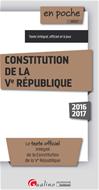 Télécharger le livre :  En poche - Constitution de la Ve République 2016-2017