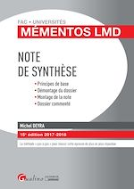 Download this eBook Mémentos LMD - Note de synthèse 2017-2018 - 15e édition