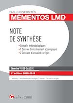 Download this eBook Note de synthèse 2018-2019 - 1e édition