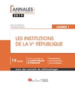 Download this eBook Les institutions de la Ve République - L1-S2
