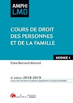 Download this eBook Cours de Droit des personnes et de la famille