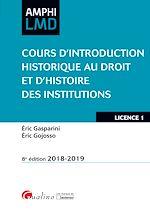 Download this eBook Cours d'Introduction historique au Droit et d'Histoire des institutions