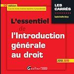 Download this eBook L'essentiel de l'Introduction générale au droit