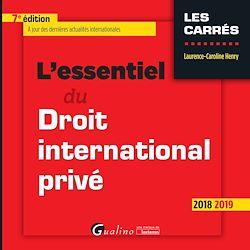 Download the eBook: L'essentiel du droit international privé - 7e édition