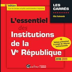 Download the eBook: L'essentiel des Institutions de la Ve République