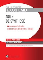 Download this eBook Exos LMD - Note de synthèse - 1e édition