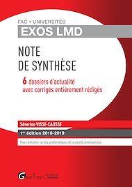 Téléchargez le livre :  Exos LMD - Note de synthèse - 1e édition