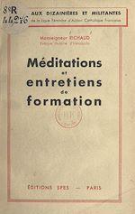 Download this eBook Méditations et entretiens de formation