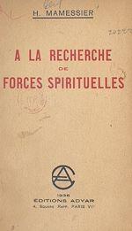 Download this eBook À la recherche de forces spirituelles