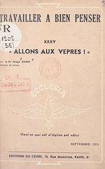 Download this eBook Allons aux vêpres !