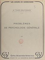 Download this eBook Problèmes de psychologie générale