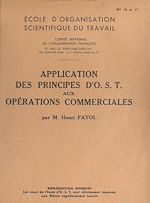 Download this eBook Application des principes d'O.S.T. aux opérations commerciales