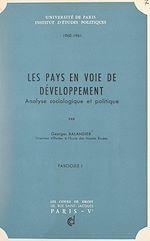 Téléchargez le livre :  Les pays en voie de développement (1)